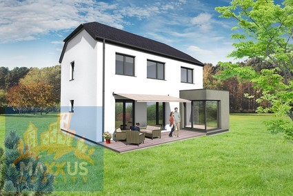 Construction of low-energy house 6+kk, usable area 143,4 sqm, built-up area 80,9 sqm